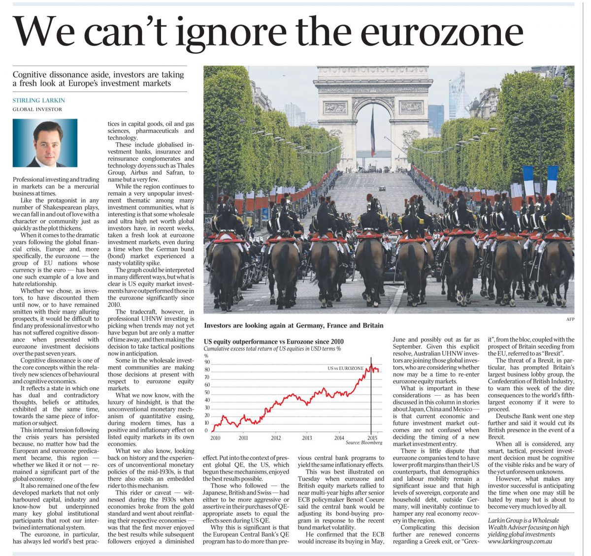 australian standfirst discusses eurozone in 2015 in the australian newspaper